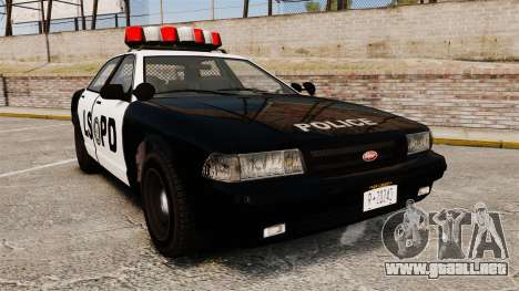 GTA V Vapid Police Cruiser LSPD para GTA 4