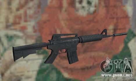 M4A1 de Saints Row 2 para GTA San Andreas segunda pantalla