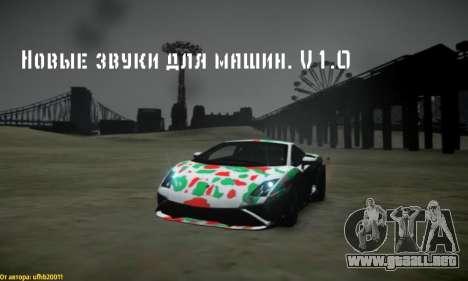 Nuevos sonidos de máquinas V 1.0 para GTA 4