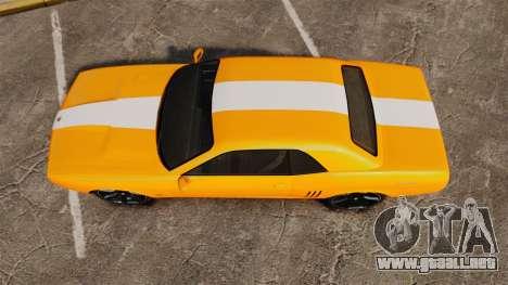 GTA V Gauntlet 450cui Turbocharged para GTA 4 visión correcta