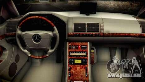Mercedes-Benz S600 V12 V1.2 para GTA San Andreas vista posterior izquierda