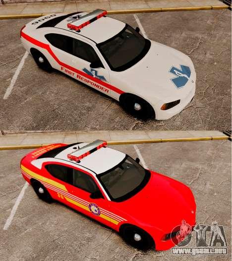 Dodge Charger First Responder [ELS] para GTA 4 vista hacia atrás