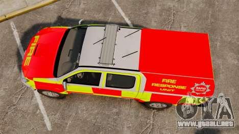 Toyota Hilux British Rapid Fire Cover [ELS] para GTA 4 visión correcta