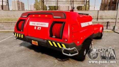 Pro Track SR2 Firetruck [ELS] para GTA 4 Vista posterior izquierda