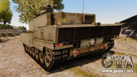Leopard 2A7 para GTA 4 Vista posterior izquierda