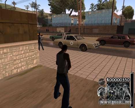 C-HUD by 6a6yuH para GTA San Andreas segunda pantalla