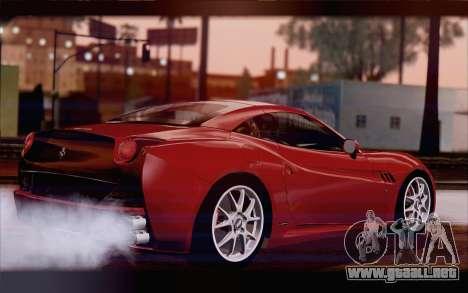 Ferrari California para GTA San Andreas left