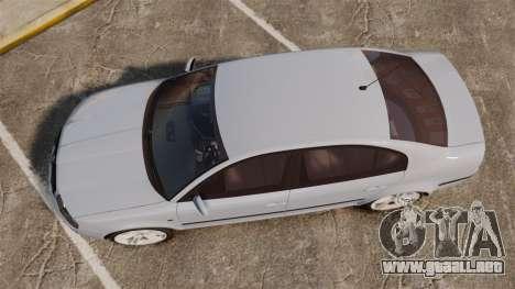 Skoda Superb 2006 Unmarked Police [ELS] para GTA 4 visión correcta