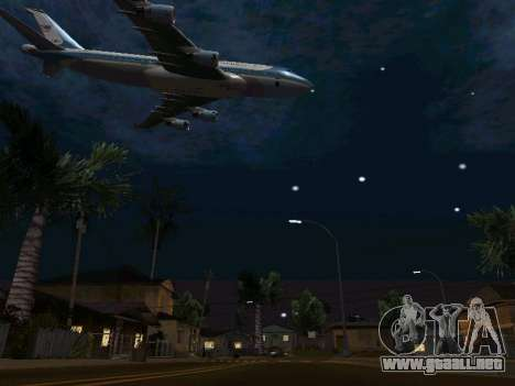 Boeing-747-400 Airforce one para la vista superior GTA San Andreas