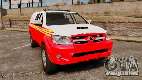 Toyota Hilux FDNY v2 [ELS] para GTA 4