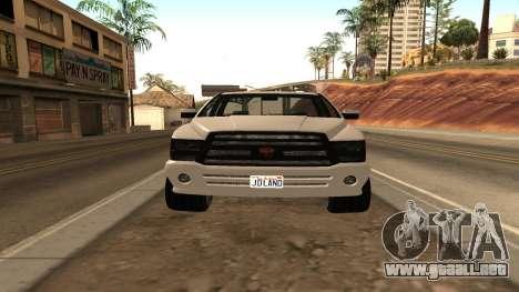 Bisonte de GTA 5 para GTA San Andreas vista posterior izquierda