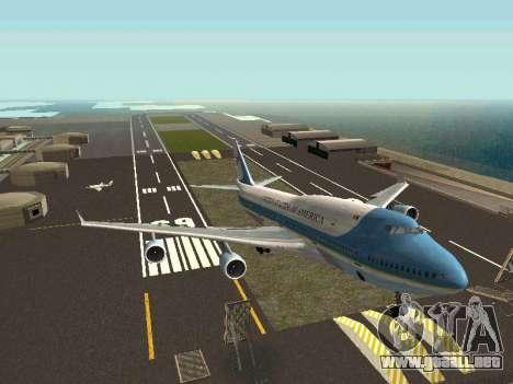 Boeing-747-400 Airforce one para la visión correcta GTA San Andreas