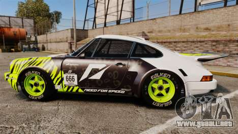 Porsche 911 Carrera RSR 1974 Rival para GTA 4 left
