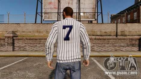 Jersey-New York Yankees - para GTA 4 segundos de pantalla