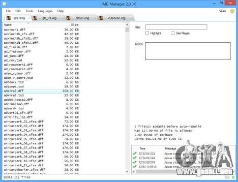 IMG Manager 2.0 para GTA San Andreas segunda pantalla