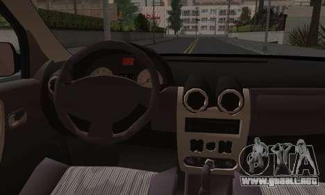 Dacia Logan para vista inferior GTA San Andreas