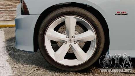 Dodge Charger 2012 para GTA 4 vista hacia atrás