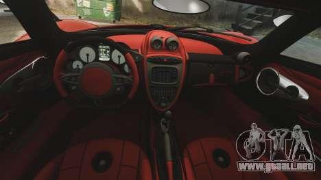 Pagani Huyara [EPM] para GTA 4 vista superior