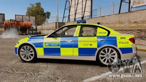 BMW F30 328i Metropolitan Police [ELS] para GTA 4 left