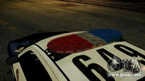 Dodge Charger LAPD 2008 para GTA 4 vista hacia atrás