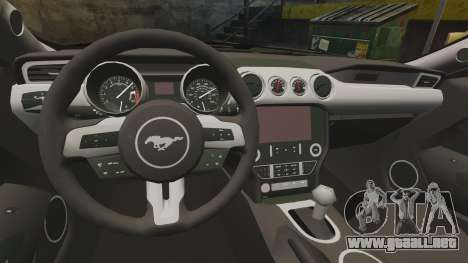Ford Mustang GT 2015 Police para GTA 4 vista hacia atrás
