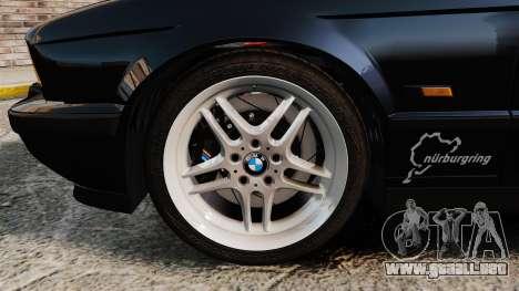BMW M5 E34 para GTA 4 vista interior