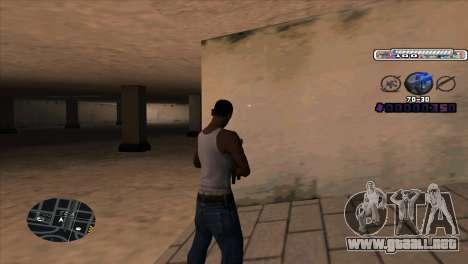C-HUD Cesar Weezy para GTA San Andreas segunda pantalla