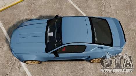 Ford Mustang GT 2013 Widebody NFS Edition para GTA 4 visión correcta