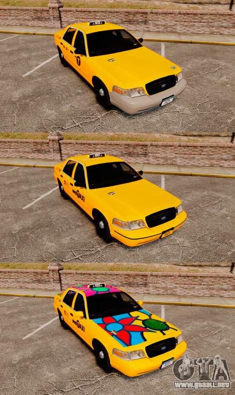Ford Crown Victoria 1999 NYC Taxi v1.1 para GTA 4 vista interior