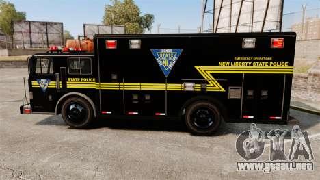 Hazmat Truck NLSP Emergency Operations [ELS] para GTA 4 left