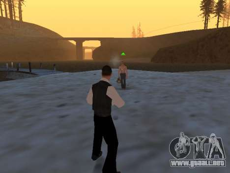 Un mito sobre el pescador para GTA San Andreas sucesivamente de pantalla