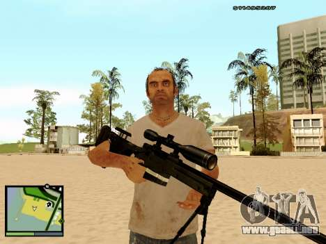 L115A3 Sniper Rifle para GTA San Andreas sucesivamente de pantalla