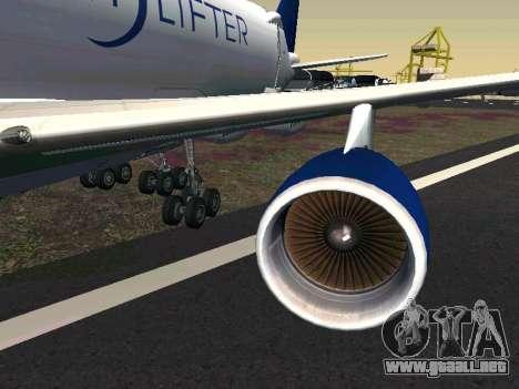 Boeing-747 Dream Lifter para GTA San Andreas left