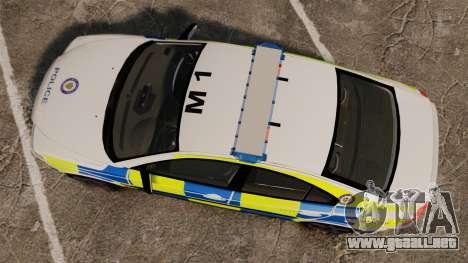 Volvo S60R Police [ELS] para GTA 4 visión correcta