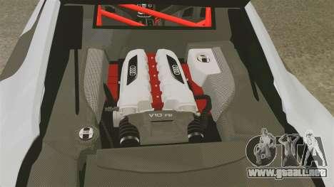 Audi R8 GT Coupe 2011 Drift para GTA 4 vista lateral