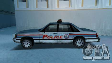 BETA Police Car para GTA Vice City left