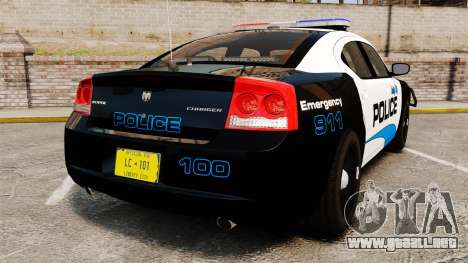 Dodge Charger 2010 Police [ELS] para GTA 4 Vista posterior izquierda