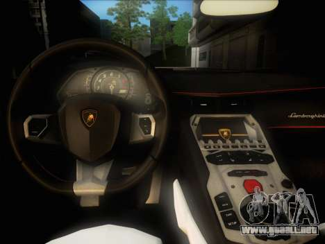Lamborghini Aventador LP720 para visión interna GTA San Andreas