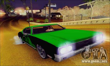 Modified Sabre Low para visión interna GTA San Andreas