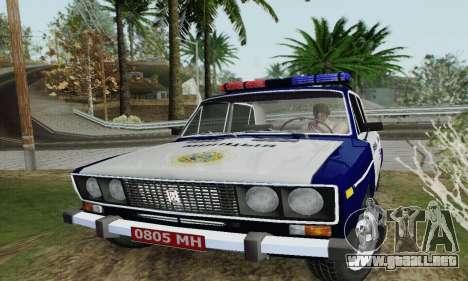 Policía 2106 VAZ para la visión correcta GTA San Andreas