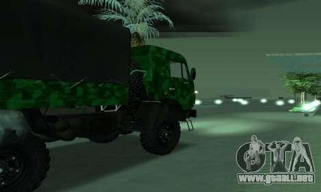 Ejército KAMAZ 4310 para GTA San Andreas left