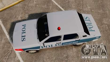 Renault 12 Turkish Police [ELS] para GTA 4 visión correcta