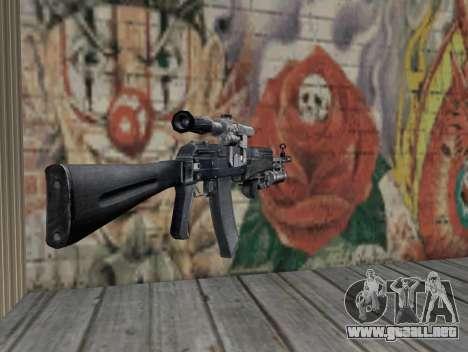 AK-47 de un acosador para GTA San Andreas segunda pantalla