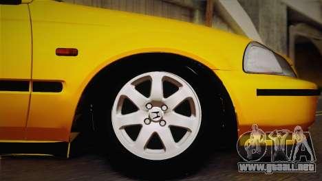 Honda Civic 1.4is TMC para la visión correcta GTA San Andreas