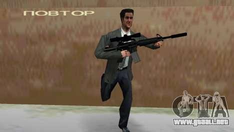 M4 con el arma de francotirador para GTA Vice City sucesivamente de pantalla