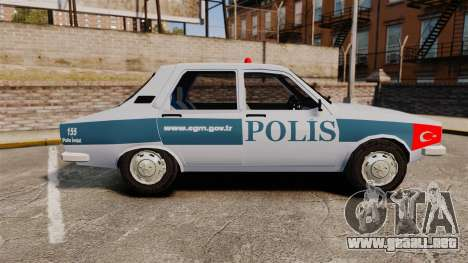Renault 12 Turkish Police [ELS] para GTA 4 left
