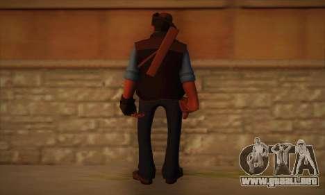 Francotirador de piel de Team Fortress 2 para GTA San Andreas segunda pantalla