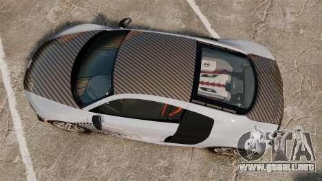 Audi R8 GT Coupe 2011 Drift para GTA 4 visión correcta
