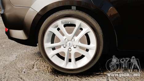Ford Mondeo Unmarked Police [ELS] para GTA 4 vista hacia atrás