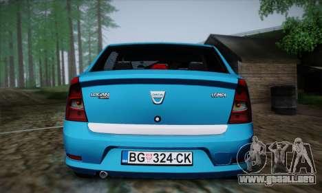 Dacia Logan para vista lateral GTA San Andreas
